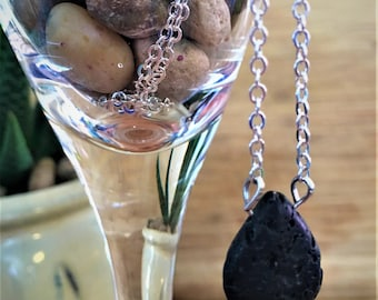 Lava Stone Necklace | Essential Oil Necklace | Minimalist Necklace | Aromatherapy necklace | Lava Necklace | Lava Diffuser Necklace