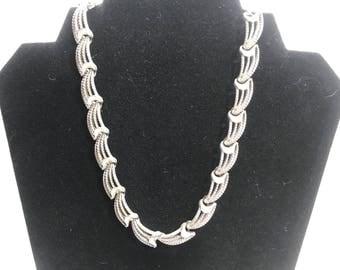 Monet Vintage Silver Tone Necklace