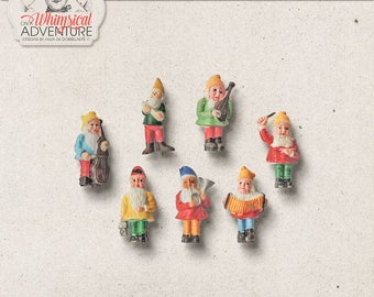 Gnomes, Fairy Garden, Spring Clipart, Seven Dwarfs, Commercial Use OK Clipart Images, Gnome Topper, Fairytale Theme, Instant Download
