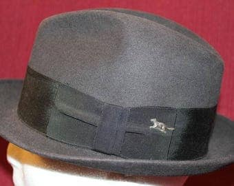 Vintage Richcraft Richman Bros. Fur Felt Men's Dress Hat Fedora Trilby 56-57 cm