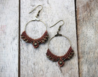 Boho Hoop Earrings. Choose your colour.