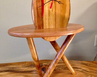 Mid-Century Modern Koa and Sapele Clock