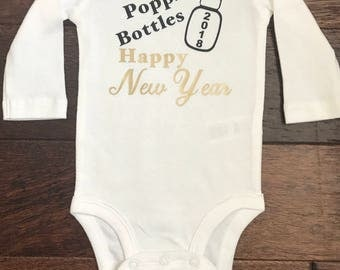 Image result for Happy New Year poppin bottles baby Onesie