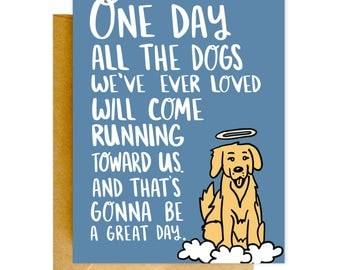 Pet Loss Card, Dog Loss Card, Condolences Card, Grieving Card, Pet Sympathy Card, Pet Greeting Card, Card for Pet Loss, Dog Heaven Card