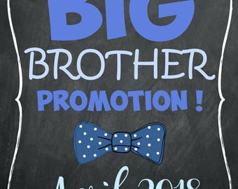 pregnancy announcement / big brother / big sister / siblings / photo prop / event / baby shower / bow tie / classy