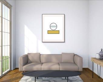 Scandinavian design, Geometric print, Scandi modern poster, Modern print, Instant Download, Scandinavian, Modern Art, Wall Decor
