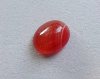 Red Carnelian small oval cabochon 10x7mm