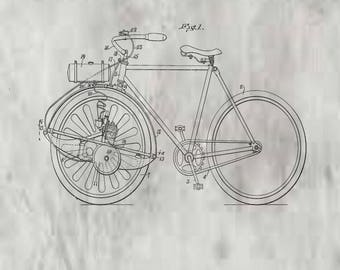 Propelling device for Bicycles. Patent #1,168,300 dated January 18, 1916.