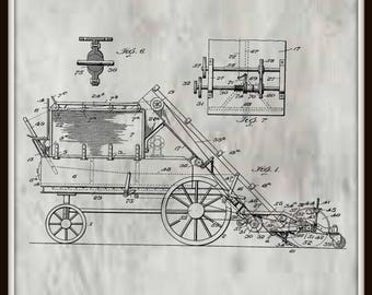Street Sweeping Machine Patent # 762241 dated June 7, 1904.