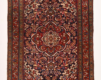 Antique Persian Bakhtiari Rug. Best Price Guarantee- Bright natural color- Handknotted Pure Wool