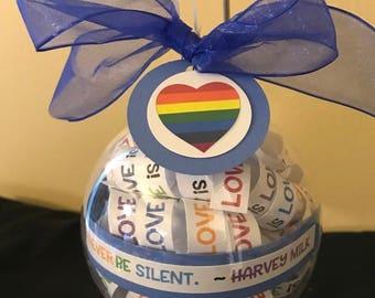 Love is Love Ornament; LGBTQ; Harvey Milk