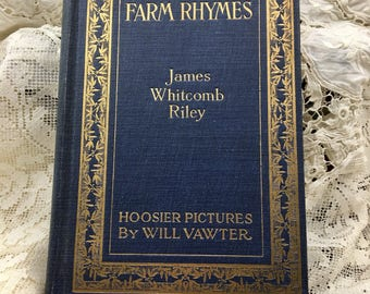 Farm Rhymes, Antique Animal Book, James Whitcomb Riley, 1921, Antique Animal Book, Farm Animals