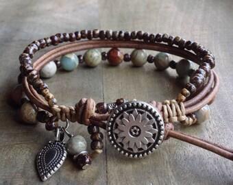 Bohemian bracelet boho chic bracelet gemstone womens jewelry boho chic jewelry rustic bracelet boho bracelet stackable bracelet gift for her