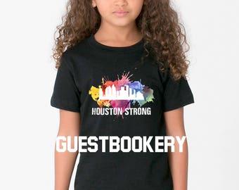 Houston Strong Youth T-shirt - Harvey - Hurricane Harvey - Texas - Youth - Houston - Texas Gift - Hurricane Relief - Texas Shirt - T-shirt