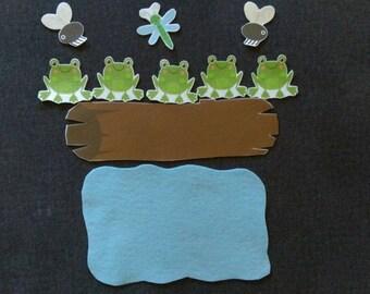 5 Little Speckled Frogs  // Felt Board Story // Flannel Board Story Set // Preschool // Teacher Story // Counting //