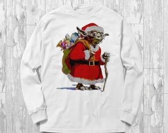 Star Wars Sweater Yoda Ugly Christmas Santa Gift Idea For Death Star Fans Darth Vader Skywalker Force Starwars Kylo Ren Han Solo Jedi Saber