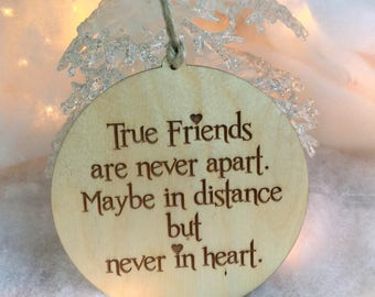 Ornament, Christmas Ornament, Gift for Friend, Friend Gift, BFF, Best Friend Gift, Friend Stocking Stuffer, Tree Ornament, Gift Tag,