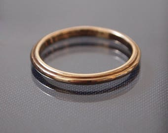 Art Deco 14ct Yellow Gold Wedding Band