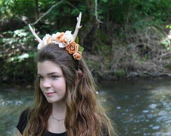 Antler Flower Crown -Antler Head piece- Boho