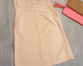 Peach top, Pastel top, summer top, women top- size S