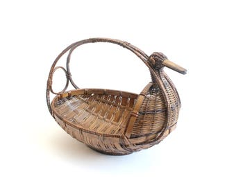 Bird Basket, Vintage Duck Basket