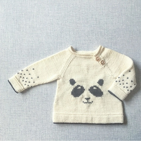 The Panda sweater - Knitting Pattern - PDF - English