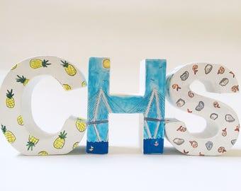 Charleston Monogram - Charleston, SC - CHS - Decorative Letter