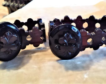 Pair of Horn Cuff, Adjustable Bracelets