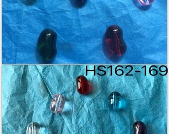 Glass Jelly Bean Charms