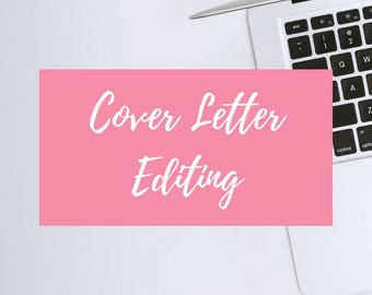 Cover Letter Editing + Free Resume Template | Professional Editing & Service | Free Instant Download Resume Template