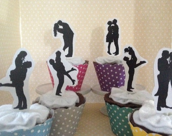 Dancing With The Stars Party Cupcake Topper Decorations - Set of 10