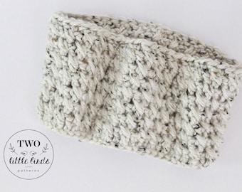 Crochet Cowl, crochet scarf, crochet neck warmer, chunky crochet cowl, crochet infinity cowl, Adult size, oatmeal, ELSIE COWL