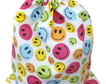 Bag pouch Tote, range pajamas, blanket... Smileys