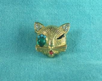 Artisan Cat Brooch