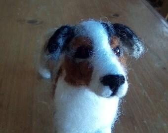 Needle felted Australian Shepherd miniature