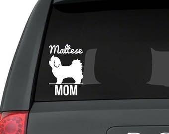 Maltese decal, Maltese sticker, Maltese gift, Maltese lover, Maltese love, Maltese mom, Maltese dog, Maltese breed, Maltese art, Maltese