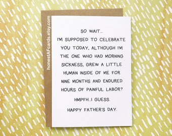 Funny Father's Day Card  - New Dads - Funny Card for Baby Daddy - Happy Father's Day