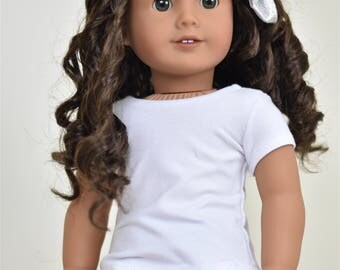 Basic Top 18 inch doll clothes Short Sleeve White