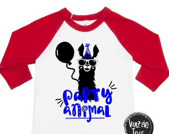 Party Animal Shirt - Unisex Birthday Shirts - Birthday Boy - Birthday Girl - Hipster - Funny Birthday Shirts - Birthday Boy - Birthday Girl