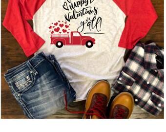 Valentine's Day Raglan, Women's Love Shirt, Cupid Shirt, Valentine's Shirt, Women's Raglan, Red Vintage Raglan, Baseball Tee