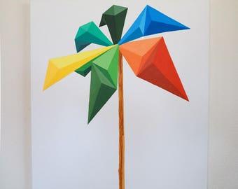 Original Art - Sunset Palm