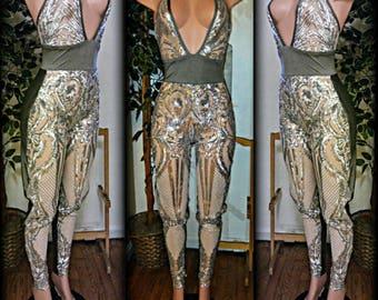 Custom Sequin Body Suit/ Jumper