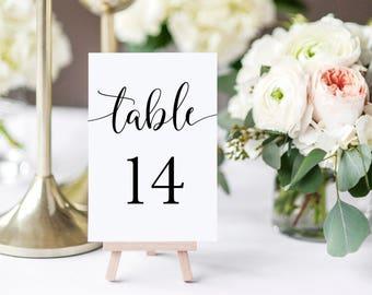 Table Numbers Printable, Table Numbers Wedding, Table Numbers Rustic, Wedding Table Signs, script table numbers, Table Numbers 1-30, 4x6
