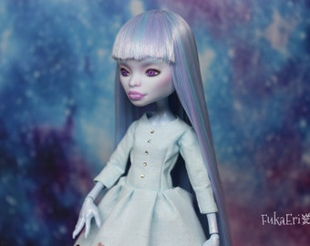 Monster High Custom Repaint Art doll OOAK Abbey Bominable