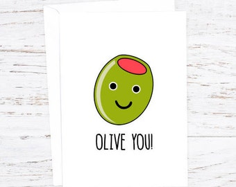 Olive you! - Greetings Card - February - Events - A6