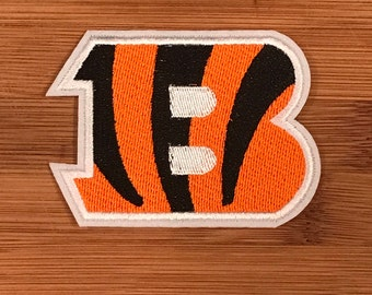 "Cincinnati Bengals 3.5""  Embroidered Iron On Patch for shirt, cap, bag, jacket, etc. Show Your Team Spirit!!"