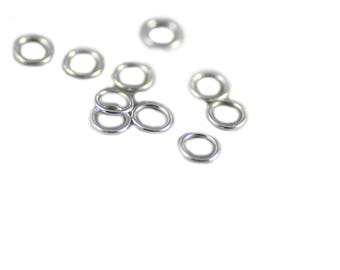 Jump Ring - Soldered/Closed - Sterling Silver - 5mm