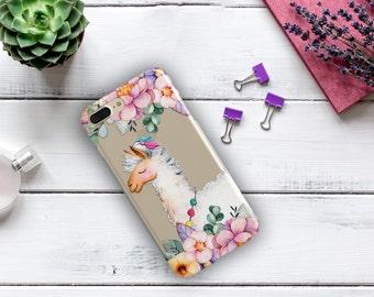 Llama Case iPhone X iPhone 8 Plus iPhone 7 iPhone 7 Plus iPhone SE Floral Samsung Galaxy S7 Samsung Galaxy S8 Samsung Galaxy J3 J7 Case
