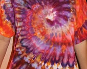 Large Tie Dye T-Shirt, One of a Kind shirt, BOHO shirt, Tie Dye clothing, Birthday gift, Unique gift