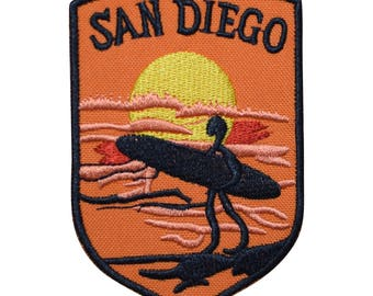 San Diego Surfing Patch - Sunset in California